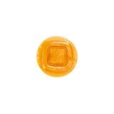 Κουμπί, κίτρινη σύσταση, τετράγωνο στο εσωτερικό Στοκ Εικόνα
