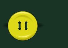 κουμπί κίτρινο Στοκ εικόνα με δικαίωμα ελεύθερης χρήσης