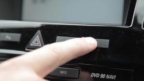 Κουμπί καυσίμων απόθεμα βίντεο