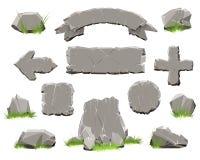 Κουμπί κύκλων βράχου, εμβλήματα πετρών απεικόνιση αποθεμάτων