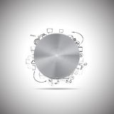 Κουμπί μετάλλων με άλλα στοιχεία σχεδίου doodle Στοκ εικόνες με δικαίωμα ελεύθερης χρήσης