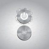 Κουμπί μετάλλων με άλλα στοιχεία σχεδίου doodle Στοκ φωτογραφία με δικαίωμα ελεύθερης χρήσης