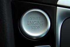 Κουμπί μηχανών έναρξης Στοκ Φωτογραφία