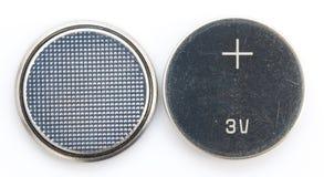 Κουμπί μπαταριών Στοκ Εικόνα