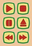 Κουμπί παιχνιδιού Στοκ Φωτογραφία