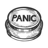 Κουμπί πανικού που χαράσσει τη διανυσματική απεικόνιση ελεύθερη απεικόνιση δικαιώματος