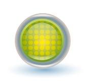 κουμπί πράσινο Στοκ Φωτογραφίες