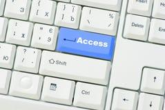 κουμπί πρόσβασης Στοκ εικόνες με δικαίωμα ελεύθερης χρήσης