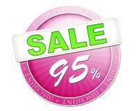 Κουμπί 95% πώλησης Στοκ Φωτογραφία