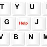 Κουμπί πληκτρολογίων βοήθειας Στοκ Εικόνες