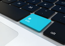 Κουμπί πληροφοριών Στοκ Φωτογραφία