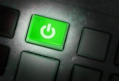 Κουμπί σε μια βρώμικη παλαιά επιτροπή Στοκ εικόνες με δικαίωμα ελεύθερης χρήσης