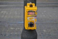 Κουμπί σε crossway στοκ εικόνες