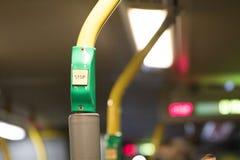 Κουμπί στάσεων λεωφορείου Στοκ Εικόνα