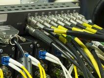 Κουμπί στον τηλεοπτικό εξοπλισμό πινάκων ελέγχου Στοκ εικόνες με δικαίωμα ελεύθερης χρήσης