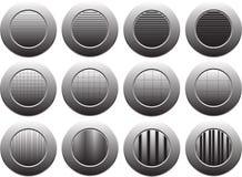 Κουμπί στο άσπρο υπόβαθρο, που απομονώνεται για τον ιστοχώρο, διαφήμιση, κοινωνικό μάρκετινγκ Στοκ Φωτογραφία