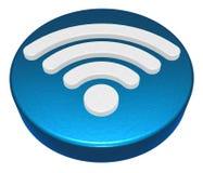 Κουμπί συμβόλων Wifi στο άσπρο υπόβαθρο Στοκ φωτογραφία με δικαίωμα ελεύθερης χρήσης