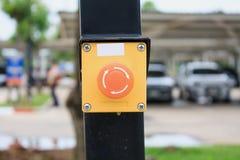 Κουμπί συναγερμών έκτακτης ανάγκης Στοκ Φωτογραφίες