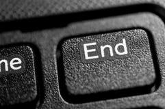 Κουμπί τελών Στοκ Εικόνα