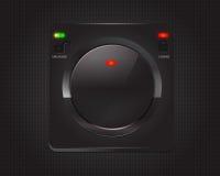 Κουμπί τεχνολογίας με τη σύσταση μετάλλων Στοκ εικόνες με δικαίωμα ελεύθερης χρήσης
