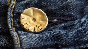 Κουμπί της Levi's Στοκ Εικόνες