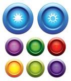 κουμπί φωτεινότητας κάτω &alph Στοκ Φωτογραφία