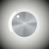 Κουμπί όγκου με τη σύσταση μετάλλων και το φως νέου Στοκ Εικόνα