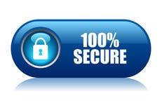 κουμπί 100 ασφαλές Στοκ Φωτογραφίες