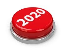 Κουμπί 2020 Στοκ Φωτογραφίες