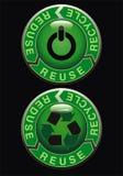 κουμπί ecologic Στοκ φωτογραφίες με δικαίωμα ελεύθερης χρήσης
