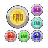 κουμπί faq Διανυσματική απεικόνιση