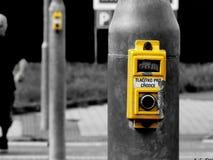 Κουμπί Trafficlight Στοκ φωτογραφίες με δικαίωμα ελεύθερης χρήσης
