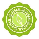 Κουμπί Vegan το διακριτικό πηγαίνει vegan Eps10 διανυσματικό έμβλημα ελεύθερη απεικόνιση δικαιώματος