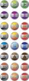 κουμπιά 'Ήχοσ' Στοκ φωτογραφίες με δικαίωμα ελεύθερης χρήσης
