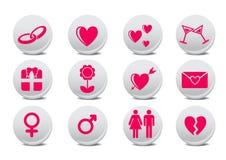 Κουμπιά αγάπης Στοκ Εικόνες