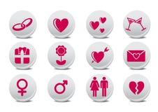 Κουμπιά αγάπης Στοκ φωτογραφία με δικαίωμα ελεύθερης χρήσης