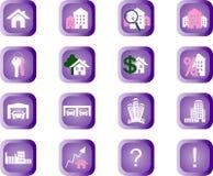 Κουμπιά ακίνητων περιουσιών διανυσματική απεικόνιση