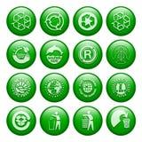 κουμπιά ανακύκλωσης Στοκ φωτογραφία με δικαίωμα ελεύθερης χρήσης