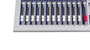Κουμπιά αναμικτών στη γραμμή Στοκ Εικόνες