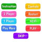 Κουμπιά για τα παιχνίδια Στοκ φωτογραφίες με δικαίωμα ελεύθερης χρήσης