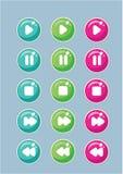 Κουμπιά για το σχέδιο βίντεο και παιχνιδιών παιδιών απεικόνιση αποθεμάτων