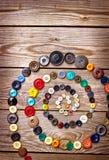 Κουμπιά γραφικής παράστασης ανασκόπησης Στοκ φωτογραφίες με δικαίωμα ελεύθερης χρήσης