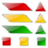 Κουμπιά γυαλιού Στοκ εικόνες με δικαίωμα ελεύθερης χρήσης