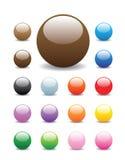 κουμπιά γύρω από λαμπρό Στοκ Εικόνες