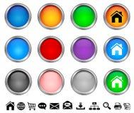 κουμπιά Διαδίκτυο Στοκ Εικόνες