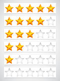 Κουμπιά εκτίμησης Στοκ εικόνες με δικαίωμα ελεύθερης χρήσης