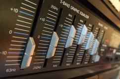 Κουμπιά εξισωτών στοκ εικόνα με δικαίωμα ελεύθερης χρήσης