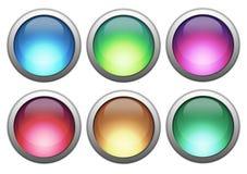 κουμπιά ζωηρόχρωμα Διανυσματική απεικόνιση