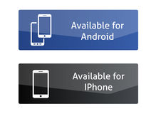 Κουμπιά διαθέσιμα για αρρενωπό και Iphone ελεύθερη απεικόνιση δικαιώματος