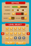 Κουμπιά διεπαφών που τίθενται για τα παιχνίδια ή apps Στοκ εικόνες με δικαίωμα ελεύθερης χρήσης